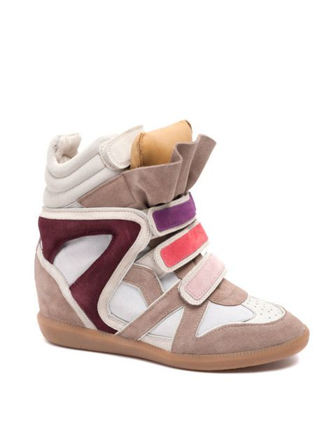 "<p>Isabel Marant wedge trainers, £430, at <a href=""http://www.harveynichols.com/"">Harvey Nichols</a></p>"