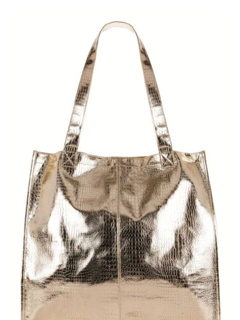 <p>If there's one thing that will add edge to your wintry layers it's a luxe metallic shopper… Marks & Spencer metallic shopper, £19.50, for stockists call 0845 302 1234</p>