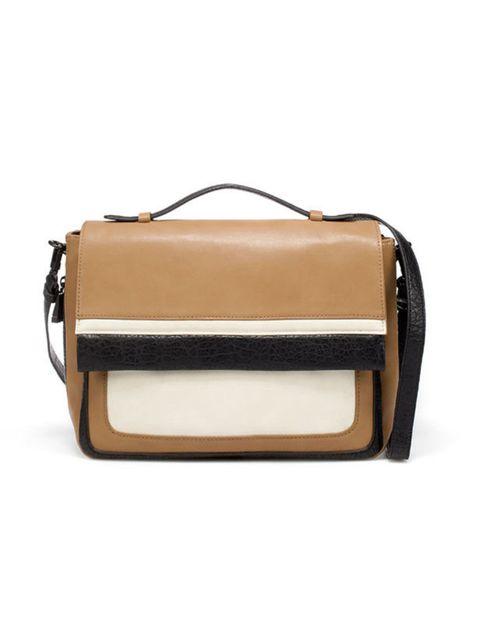 """<p><a href=""""http://www.zara.com/webapp/wcs/stores/servlet/product/uk/en/zara-W2011-r/163414/680005/MESSENGER%2BBAG%2BWITH%2BFLAP%2BAND%2BPIPING"""">Zara</a> messenger bag, £39.99</p>"""