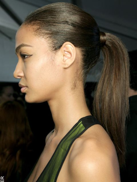 "<p>It really wasn't a show if a ponytail didn't feature, so omnipresent were they this season. Done several ways but always to beautiful effect our favourites were the backcombed effortless versions at <a href=""http://www.elleuk.com/catwalk/collections/ce"