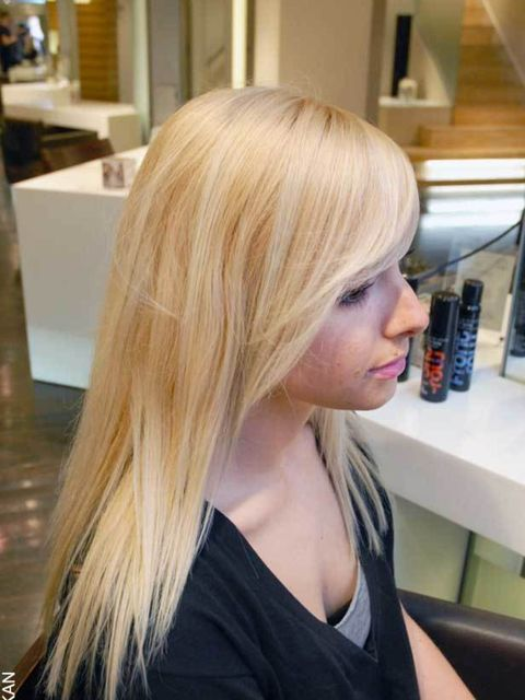 <p>If your hair is freshly washed blast it smooth with a hairdryer. If it's day old hair use Charles Worthington Front Row Refresh and Revive Dry Shampoo to absorb any oil. Naturally curly hair should be straightened first.</p>