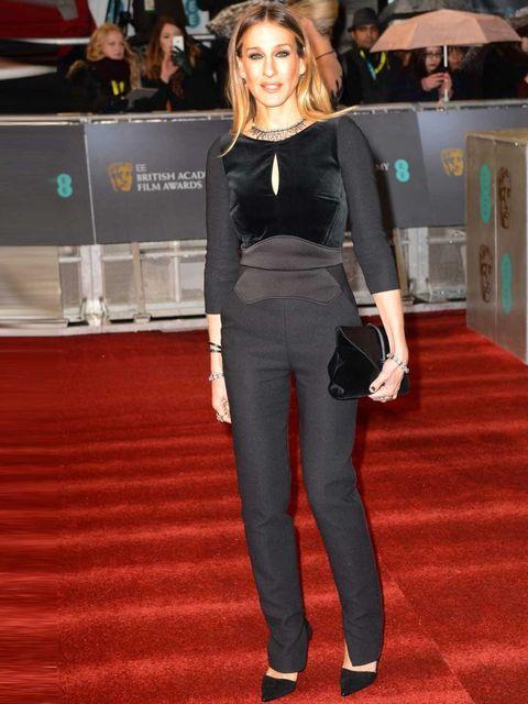 "<p><a href=""http://www.elleuk.com/star-style/celebrity-style-files/sarah-jessica-parker"">Sarah Jessica Parker</a> in <a href=""http://www.elleuk.com/catwalk/designer-a-z/elie-saab/couture-ss-2013"">Elie Saab</a>, The BAFTAS 2013</p>"