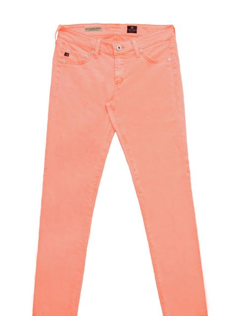 """<p>Consider colour a wardrobe essential for the coming months and these AG jeans are the most directional way to wear the trend right now… AG orange jeans, £165, at <a href=""""http://www.matchesfashion.com/fcp/product/Matches-Fashion//ag-ag-c-ls1110-jeans-O"""