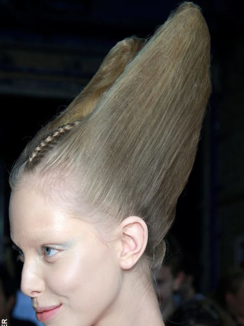 <p>From fossil-inspired sculptures at McQueen to crimped lengths at Gianfranco Ferre and Jeremy Scott and sky-high couture creations at Danielle Scutt, hair stylists pushed the boundaries this season, encouraging us to break out of our ponytail rut. Textu