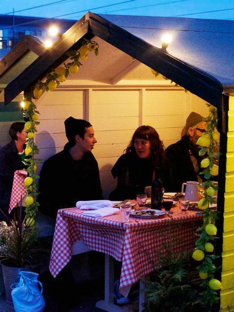 <p>Imagine Mediterranean cuisine served British picnic style. Coppa has opened as a pop-up restaurant in Hackney overlooking London fields. Even the unpredictable British climate wont put you off of this venue. Cozy colourful sheds and crochet blankets wi