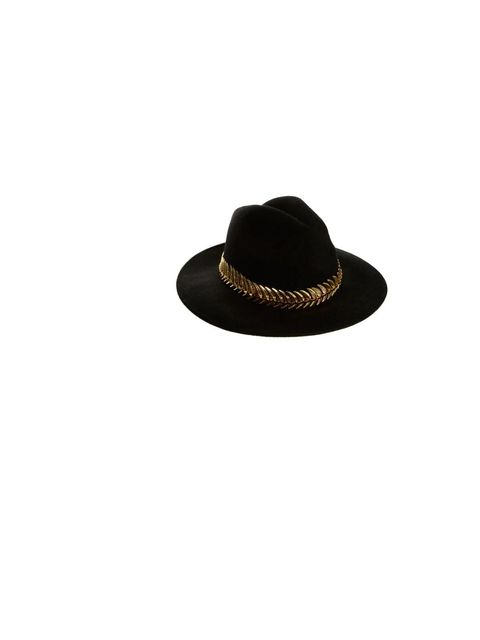 """<p>Add a dash of drama to your looks with an embellished fedora, <a href=""""http://www.asos.com/ASOS/ASOS-Felt-Fedora-With-Metal-Band/Prod/pgeproduct.aspx?iid=2947051&cid=6992&Rf900=1423&sh=0&pge=0&pgesize=36&sort=-1&clr=Black"""">A"""