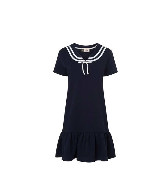 """<p>This cute nautical dress is at the top of Fashion Assistant Esperanza de la Fuente's shopping list. It doesn't need much accessorising - ballet flats, a leather shopper and a pair of classic sunglasses are all you need.</p><p><a href=""""http://www.jaeger"""