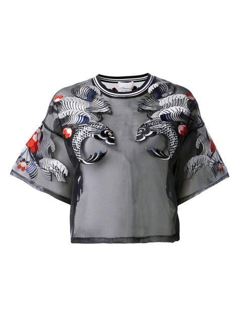 "<p><a href=""http://www.farfetch.com/uk/shopping/women/31-phillip-lim-embroidered-koi-t-shirt-item-10691422.aspx?storeid=9531&ffref=lp_19"">Phillip Lim</a> top, £442 </p>"