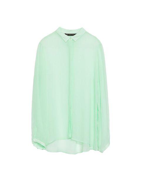 "<p><a href=""http://www.zara.com/uk/en/woman/shirts/cheesecloth-blouse-c358004p1836013.html"">Zara</a> shirt, £29.99</p>"
