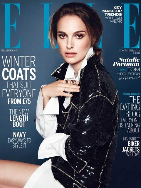<p>Natalie Portman on ELLE's November 2013 cover</p>