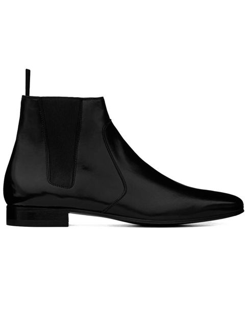 <p>A Saint Laurent men's design, sized for women</p>
