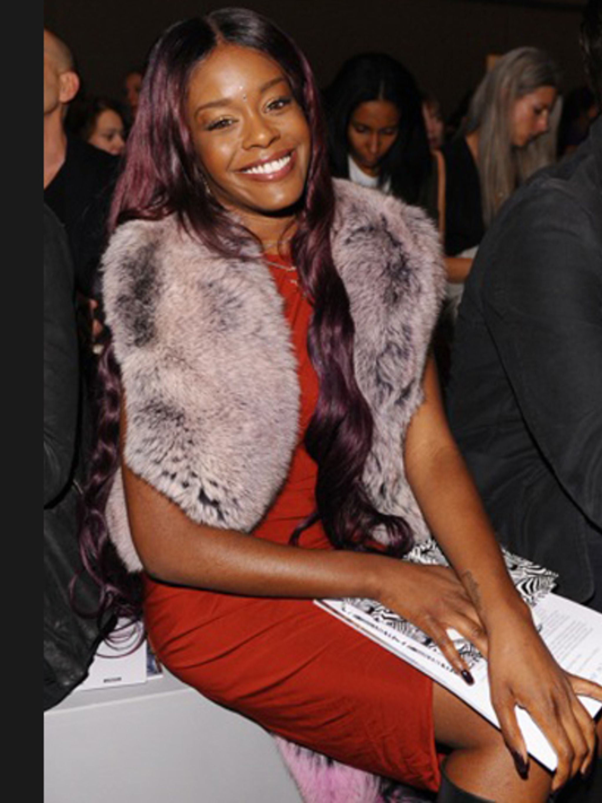 <p>Azealia Banks on the JW Anderson front row.</p>