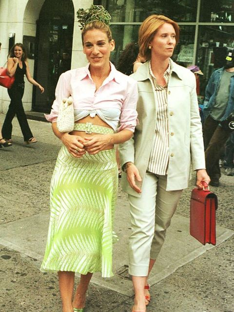 <p>Carrie and Miranda in New York, 2001 </p>
