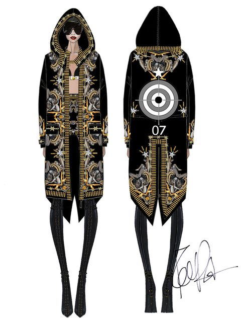 <p>Givenchy Haute Couture by Riccardo Tisci for Rihanna</p>