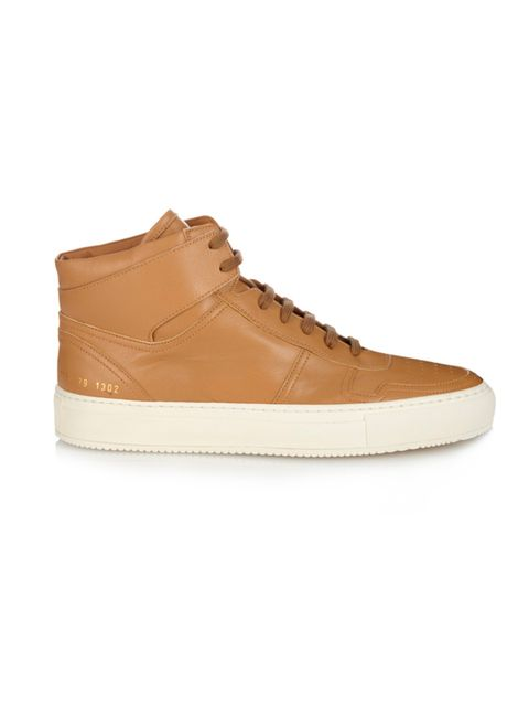 "<p>Common Projects trainers, £325, from <a href=""http://www.matchesfashion.com/products/Common-Projects-Bball-leather-high-top-trainers-1025751"" target=""_blank"">Matchesfashion.com</a></p>"
