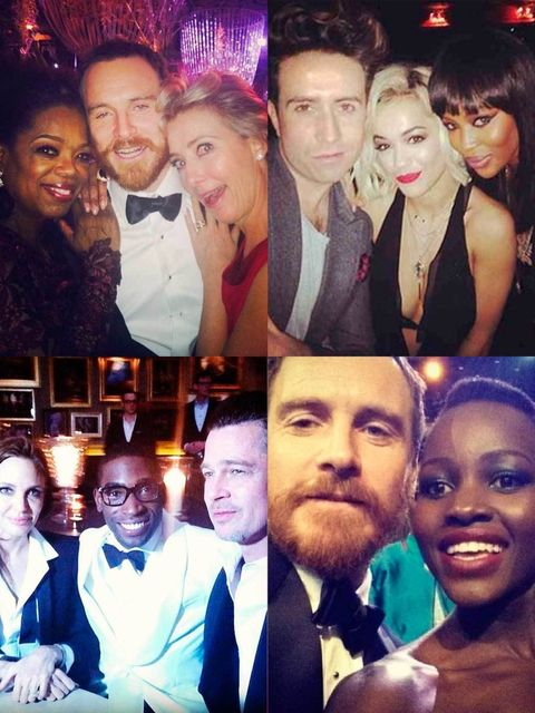 """<p>You've seen the stars smoulder on the <a href=""""http://www.elleuk.com/star-style/red-carpet/british-academy-film-awards-bafta-2014-fashion-moments-best-dressed-celebrities"""">BAFTA 2014 red carpet</a>, now see what happened when they turned the camera on"""