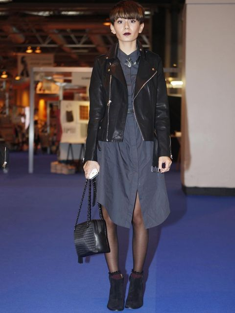 <p>Elizabeth, Student.Charity shop coat, Urban Outfitters dress, Office creepers, Topshop necklace.</p>