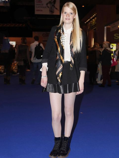 <p>Molly, student.Primark jacket and scarf, Missguided skirt.</p>