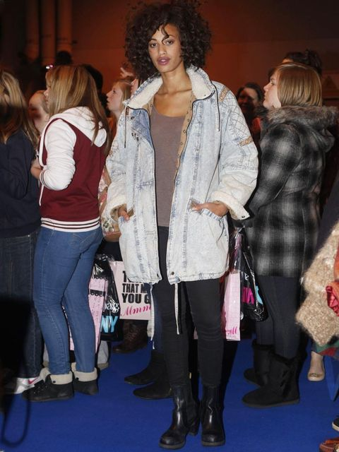 <p>Kirsty, Model.Wonderland Boutique jacket, American Apparel cardigan, H&amp&#x3B;M t-shirt, Zara jeans, Dr Marten boots.</p>