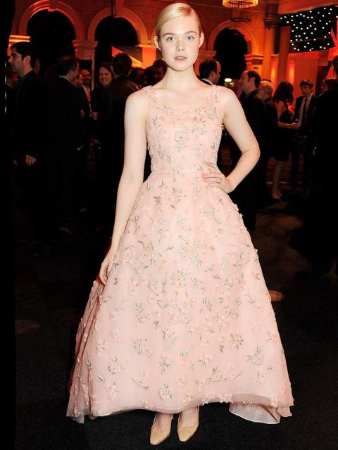 <p>Elle Fanning in Valentino at The MOET British Independent Film Awards</p>