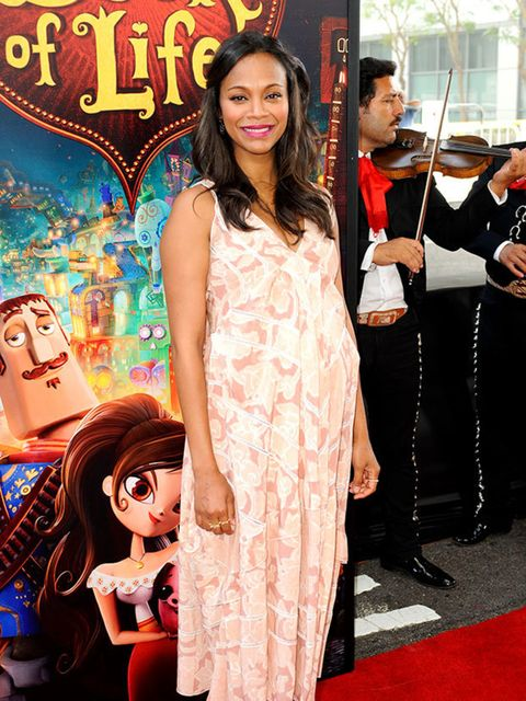 <p>Zoe Saldana wears Altuzarra to The Book of Life premiere in Los Angeles, October 2014.</p>