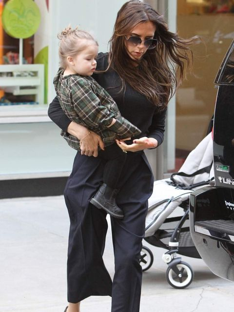 <p>Victoria and Harper Beckham out in NYC today</p>