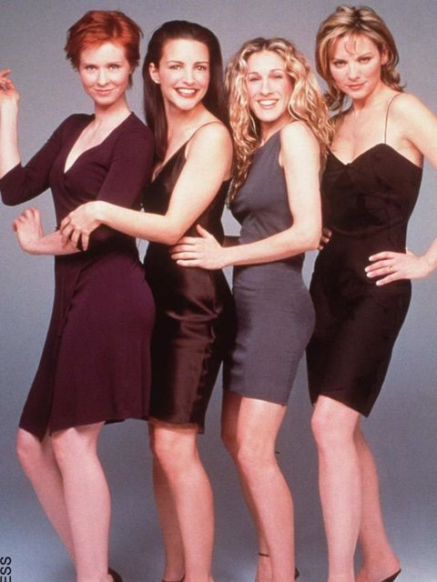 <p>Miranda, Charlotte, Carrie and Samantha, 1998</p>