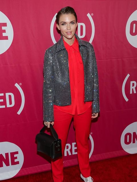 Ruby Rose attends a fashion even in New York, December 2015.