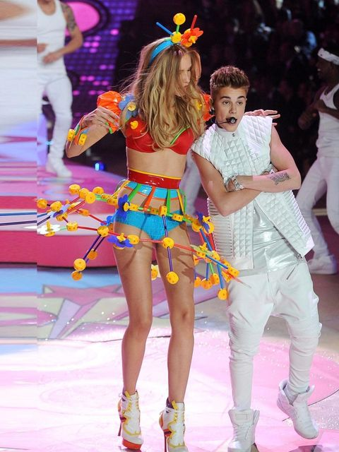 "<p>Maud Welzen and dances with Justin Bieber as he performs at the Victoria's Secret Fashion Show, New York, November 2012.</p><p><a href=""http://www.elleuk.com/elle-tv/cover-stars/elle-magazine/candice-swanepoel-model-behind-the-scenes-elle-december-issu"