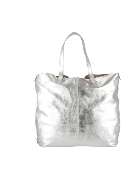 "<p>Channel the Christopher Kane inspired sci-fi trend with a practical carry-all tote… <a href=""http://www.johnlewis.com/231359733/Product.aspx"">John Lewis Collection</a> metallic leather tote, £79</p>"