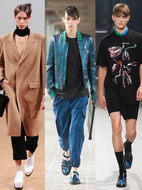 "<p>Haven't had time to scroll through the men's a/w 2014 shows? We've done it for you and handpicked the looks we're stealing styling tips from. And, if a boyish wardrobe isn't for you, there's always the models to look at...</p><p><a href=""http://www.ell"