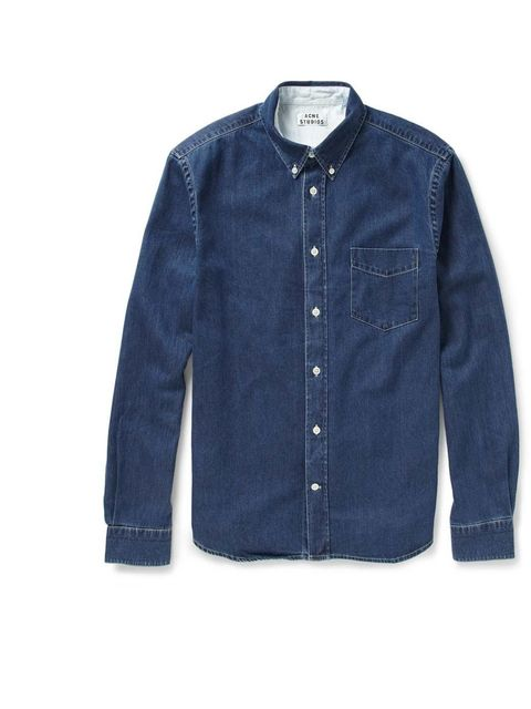 "<p>Acne 'Isherwood' denim shirt, £140, available from <a href=""http://www.mrporter.com/product/371912"">mrporter.com</a></p>"