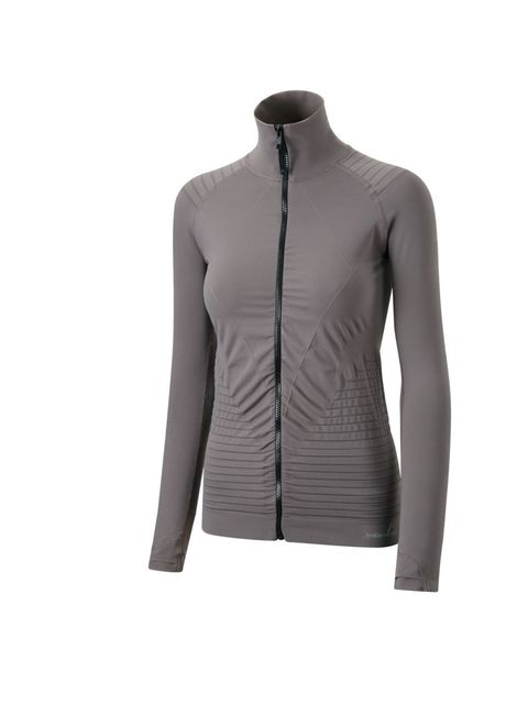 <p>ELLE is quite taken with performance apparel brand Striders Edge. This lightweight breathable jacket feels great, is antibacterial, sweat wicking and breathable. The unusual mushroom hue stands out from the sea of black and grey jackets on the market a