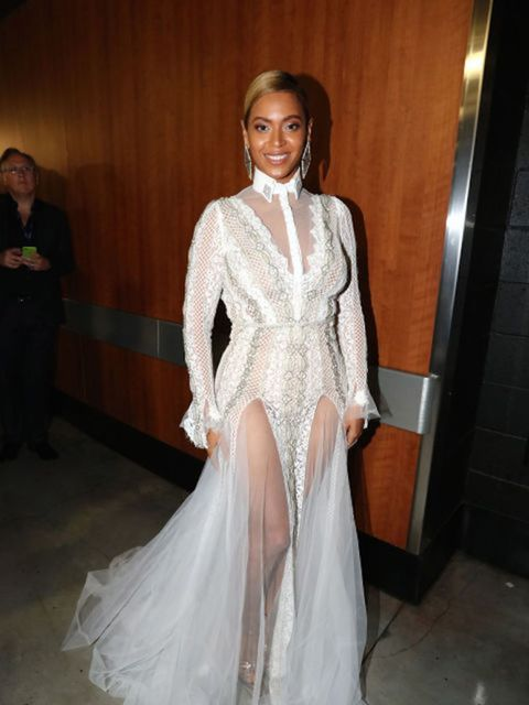 Beyoncé wore a dress from bridal designer Inbal Dror's fall 2016 collection to the Grammy's.