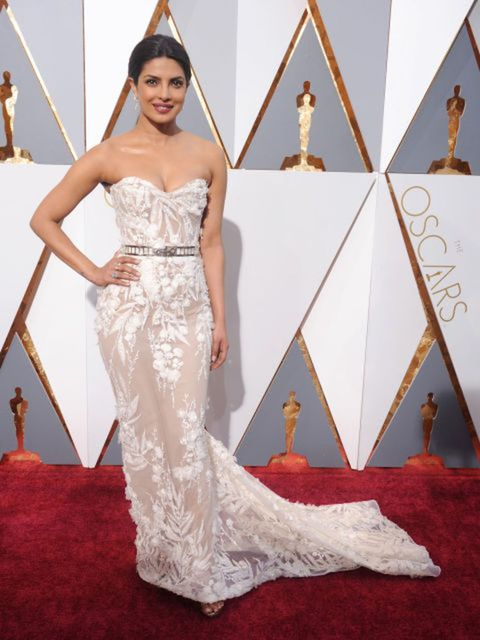 At the Oscars on Feb. 28 in Hollywood, Priyanka wore a Zuhair Murad gown that she chose for its comfort and femininity.