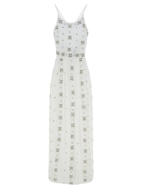 """<p>All over embellished cami maxi, £150, <a href=""""http://xhttp://www.asos.com/ASOS/ASOS-BRIDAL-All-Over-Embellished-Cami-Maxi-Dress/Prod/pgeproduct.aspx?iid=5992813&cid=2623&sh=0&pge=0&pgesize=36&sort=-1&clr=White&totalstyles=398&gridsize=3"""">available now"""