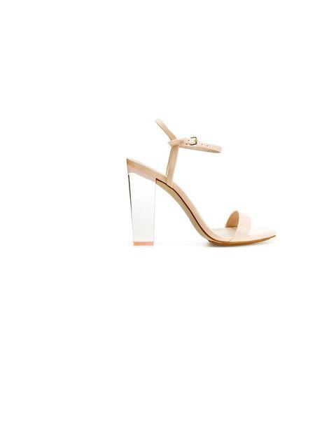 "<p><a href=""http://www.zara.com/webapp/wcs/stores/servlet/product/uk/en/zara-S2012/189510/732045/SANDAL%2BWITH%2BMETHACRYLATE%2BHEEL"">Zara</a> perspex-heel sandal, £69.99</p>"