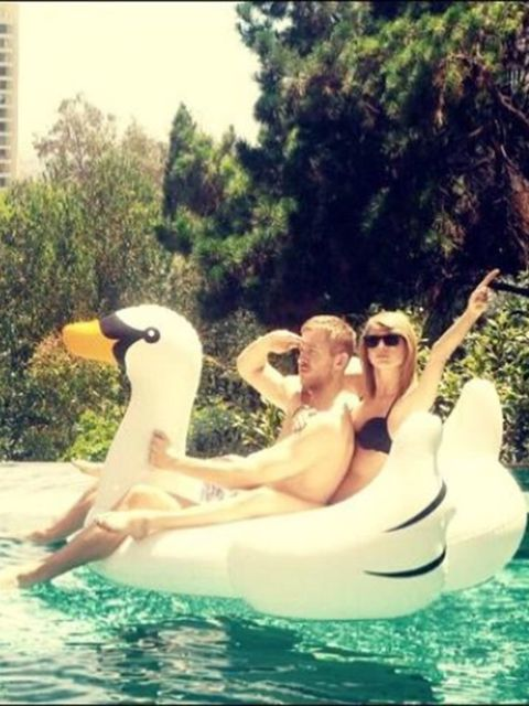 Who could forget the picture that spawned a million swan float sales?