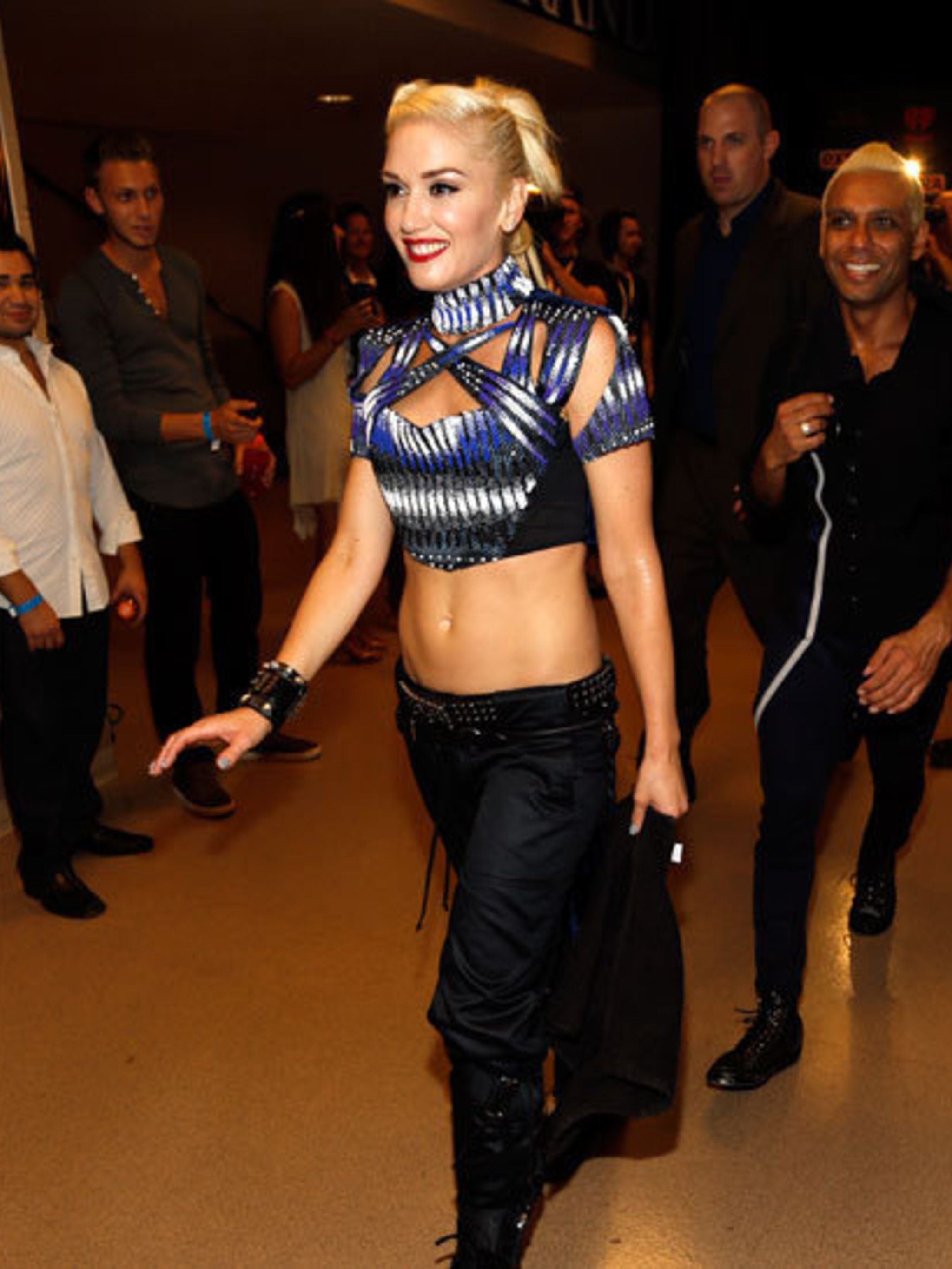<p>Gwen Stefani wears Peter Pilotto </p>