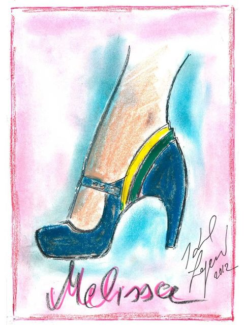 <p>Melissa + Karl Lagerfeld, autumn/winter 2013</p>