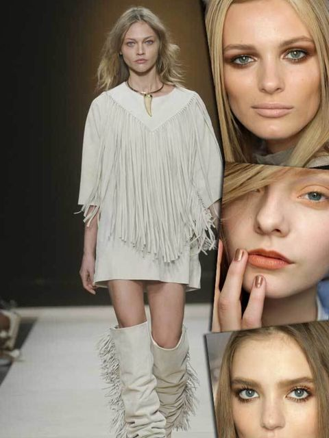 """<p><strong>The fashion look:</strong> Fringing, animal print, crochet knits plus those statement tassels that brought American history to life at Isabel Marant, Rodarte, Matthew Williamson and Chloe. <a href=""""www.elleuk.com/style/trends/the-new-native"""">Se"""