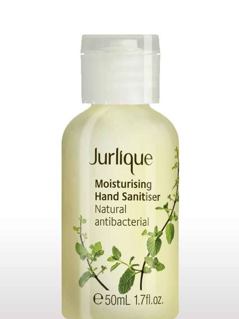<p>No tube journey or busy day is complete without this genius gel, fragranced with Australian Bush Mint for menthol freshness. One tiny blob is enough to rid your hands of any nasties, plus the handy size means it's ultra portable.</p><p>Jurlique Hand Sa