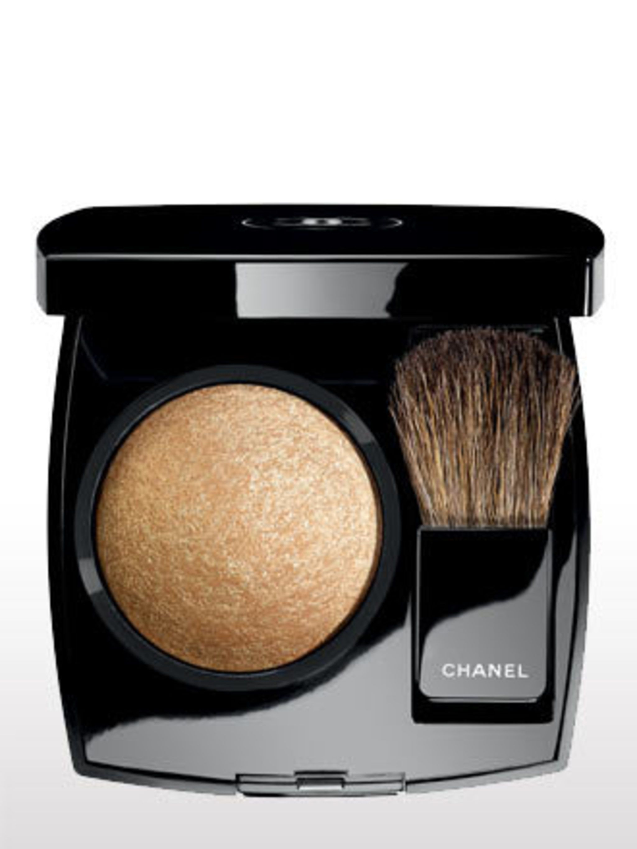"""<p>This powder highlighter adds what can only be described as a 'grown-up' golden shimmer to skin. Use on cheekbones, brow bones and décolleté.</p><p>Chanel Joues Contraste Powder Blush in Or, £31available from 24 June at <a href=""""http://www.selfridges.co"""