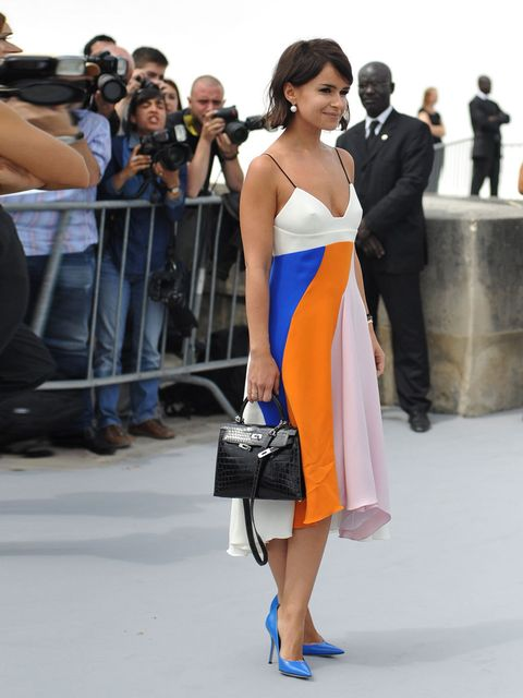"""<p>Miroslava Duma always knows what she is doing. This <a href=""""http://www.elleuk.com/catwalk/designer-a-z/christian-dior/couture-aw-2013/review"""">Dior</a> is a lesson in alternative colour blocking - surprisingly subtle for her, but with just the right am"""