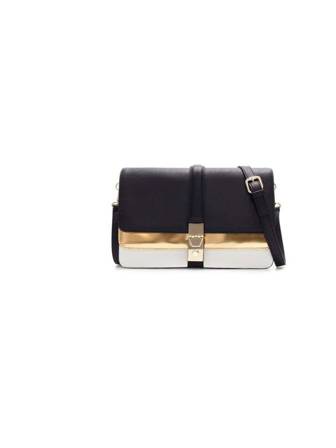 "<p>Commissioning Editor Hannah Swerling has her eye on this Zara bag - a monochrome classic with a nod to this season's trend for metallics.</p><p><a href=""http://www.zara.com/uk/en/new-collection/woman/handbags/city-bag-with-two-metallic-foldover-flaps-c"