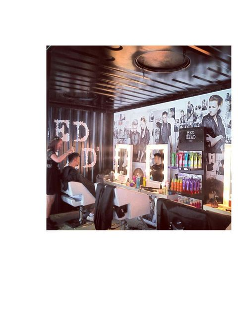 <p>Backstage with Bed Head Creatives for pre-festival pampering</p>