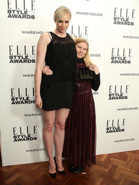 <p>Accessories Designer of the Year:</p><p>Katie Hillier, with presenter Gwendoline Christie</p>