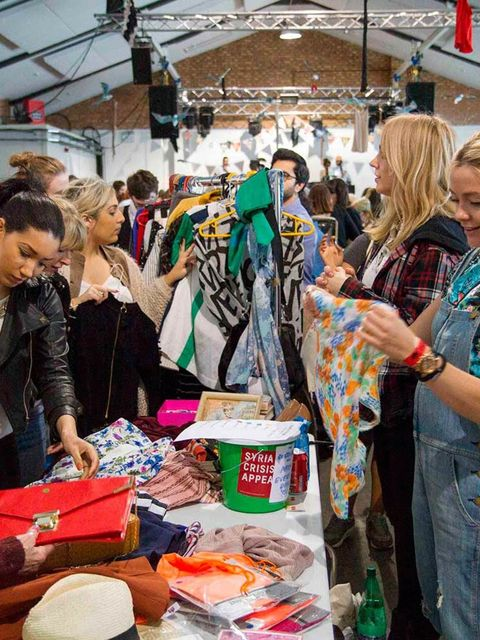 SHOPPING: Rumble in the Jumble  Imagine a jumble sale where you can rummage through Daisy Lowe's band T-shirts, Florence Welch's stage capes and Alexa Chung's, well, ANYTHING. Now imagine no more, friends, for it is coming to Bethnal Green's Oval Space th