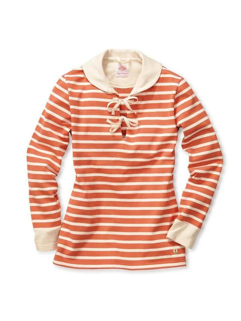"<p>Breton stripes and a sailor collar - ticking all of our nautical boxes in one.</p>  <p>Armor Lux x Nigel Cabourn top, £162 at <a href=""http://www.manufactum.co.uk/nigel-cabourn-armor-lux-womens-knitted-shirt-p1521589/?a=68654"" target=""_blank"">Manufactu"