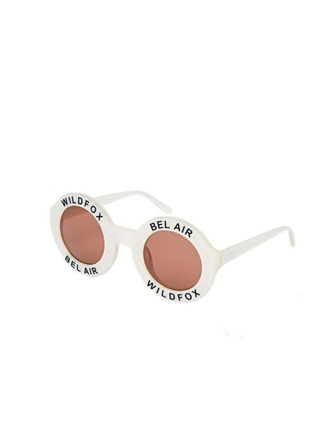 "<p>Wildfox, £130 available at <a href=""http://www.asos.com/Wildfox/Wildfox-Bel-Air-Round-Sunglasses/Prod/pgeproduct.aspx?iid=4506507&cid=4545&Rf-400=12128&sh=0&pge=0&pgesize=204&sort=-1&clr=Pearlwhitebrownsu&totalstyles=12&gridsize=4"">asos.com</a></p>"